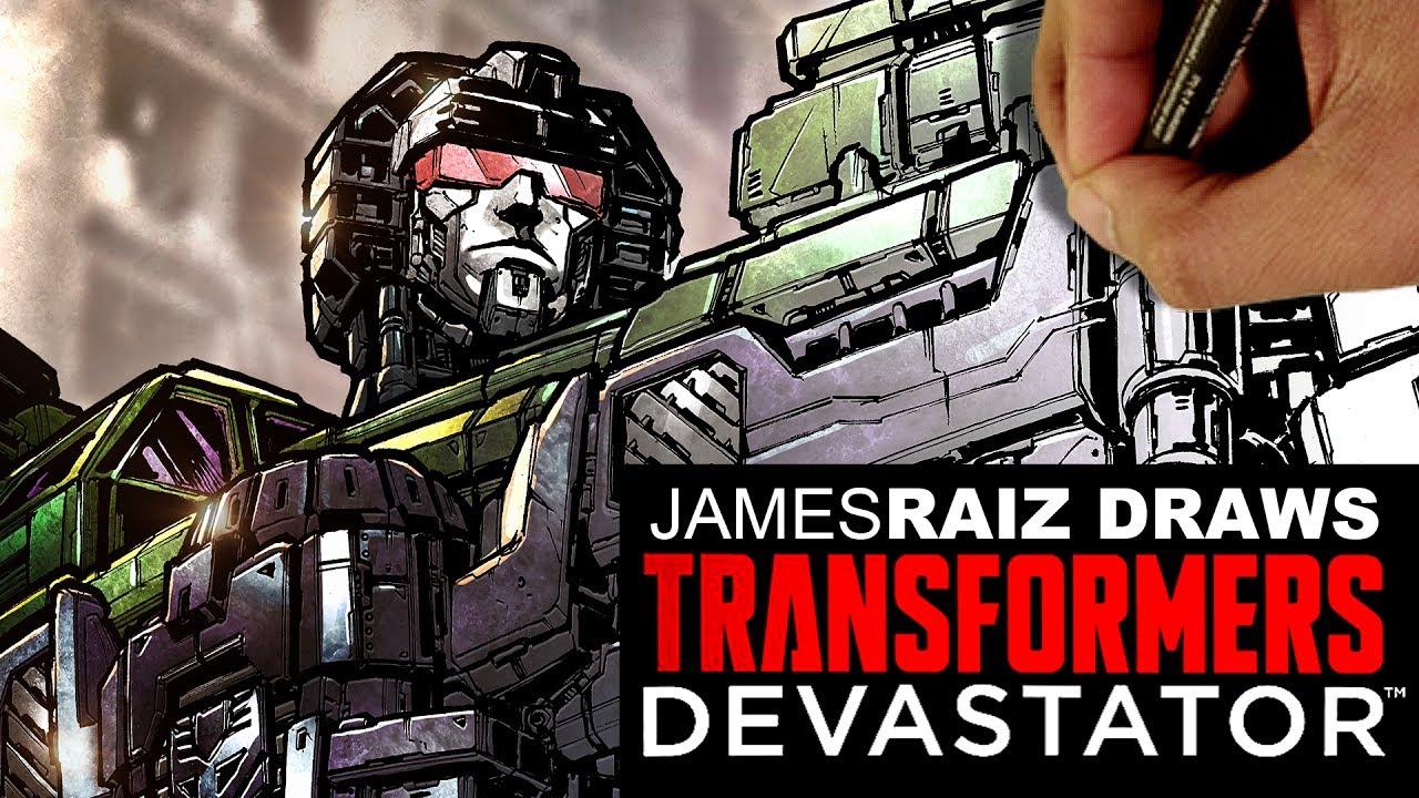 DRAWING TRANSFORMERS DEVASTATOR IN FULL COLOR