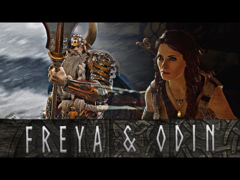 God of War - The Tragic Marriage Between Freya and Odin // All Scenes