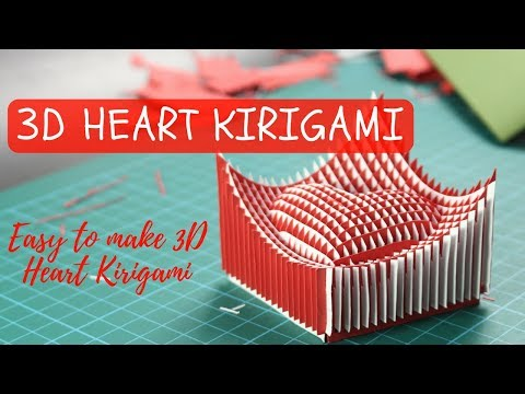 3D Heart Kirigami - How to make 3d Heart Kirigami ( kirigami 3d heart)