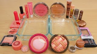 Peach Pie - Mixing Makeup Eyeshadow Into Slime Special Series 196 Satisfying Slime Video
