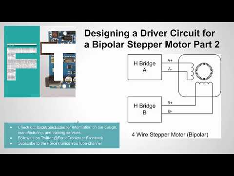 Designing a Driver Circuit for a Bipolar Stepper Motor Part 2