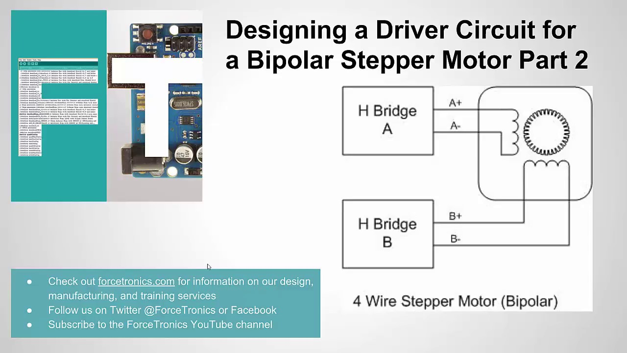 designing a driver circuit for a bipolar stepper motor part 2 youtube stepper motor wiring circuit [ 1280 x 720 Pixel ]