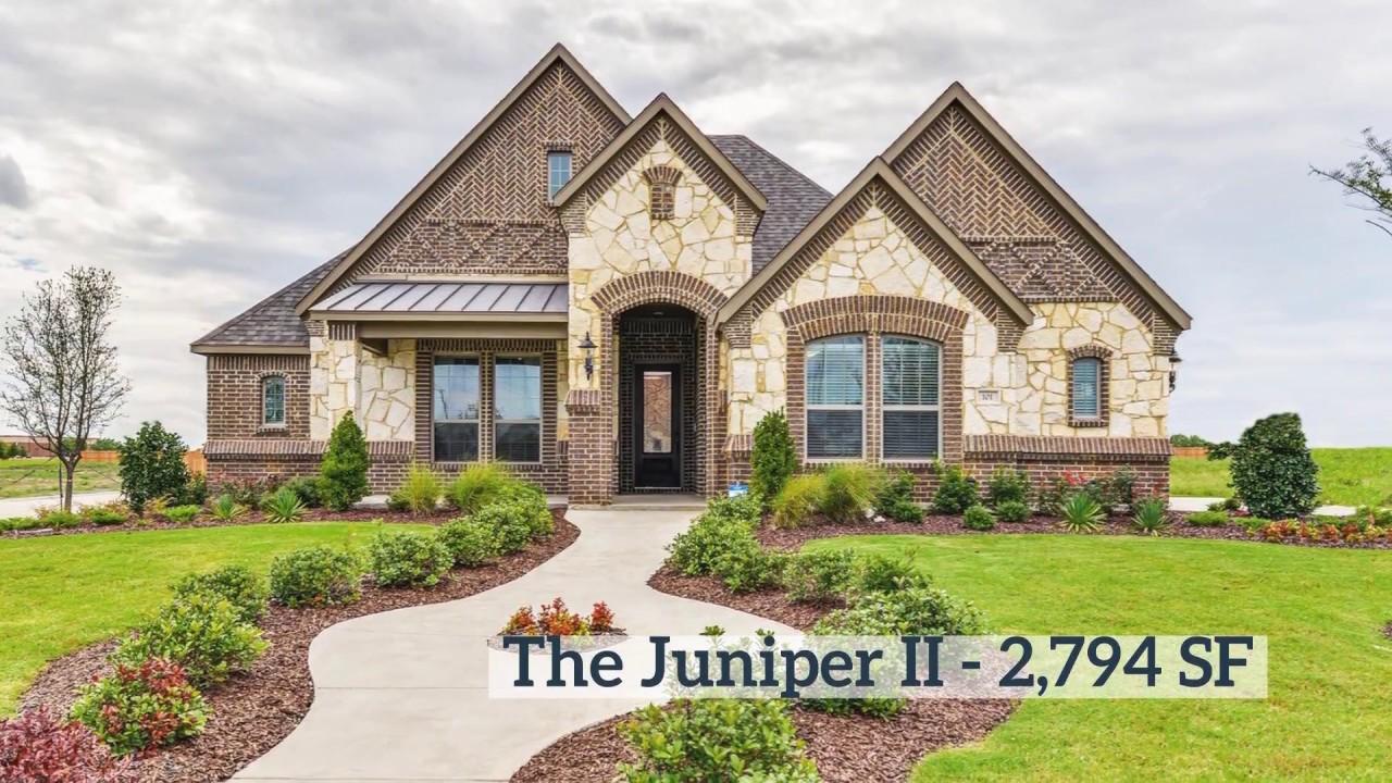 New Home Floor Plan The Juniper II 2,794 SF Lillian Custom