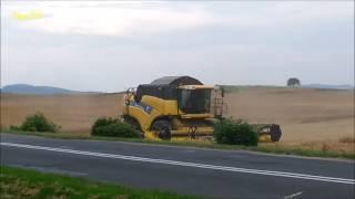 żniwa kombajn new holland mechanizacja rolnictwa