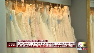 Wedding shops try to help brides after Alfred Angelo shutters stores nationwide