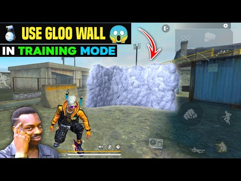 How To Use GLOO WALL In TRAINING Mode🔥- Garena Free Fire   TODAY'S GAMER