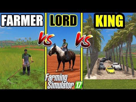 Farming Simulator 17 | FARMER vs LORD vs KING : Gameplay Comparison #1 |