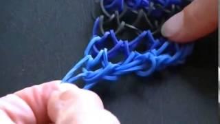 Плетение Браслета Из Резинок - Дракон с помощью Вилки Rainbow loom instruction video