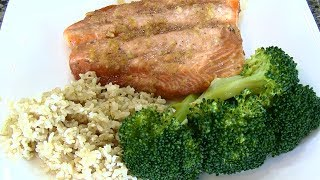 Maple Garlic Salmon, Marinated Salmon Recipe!