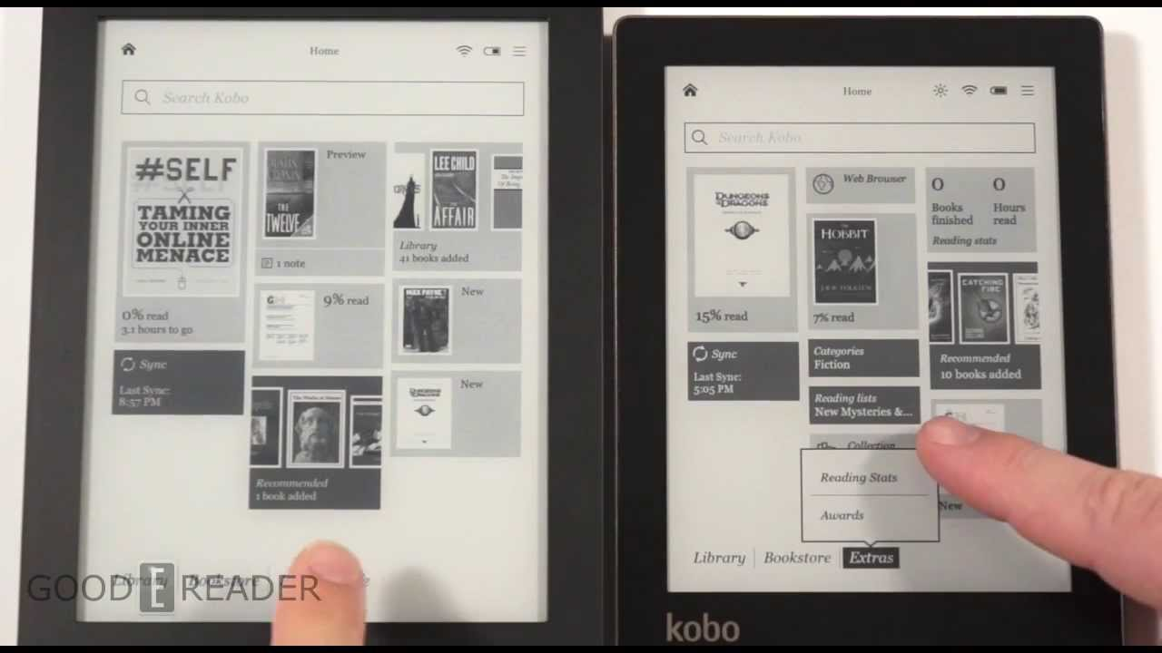 New Kobo Aura vs Kobo Aura HD Comparison