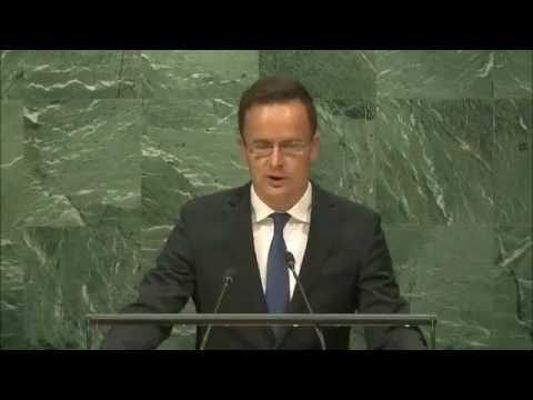 Hungarian Minister of Foreign Affairs and Trade Peter Szijjarto at the UN