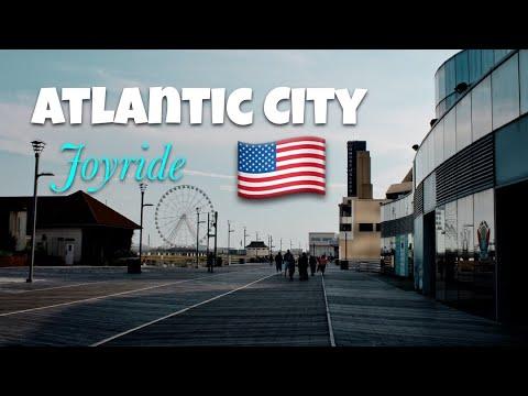 Driving downtown Atlantic City