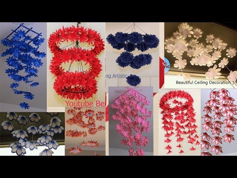 10 DIY Home Decorations - Hanging Flowers - Paper Craft - Home Decoration ideas