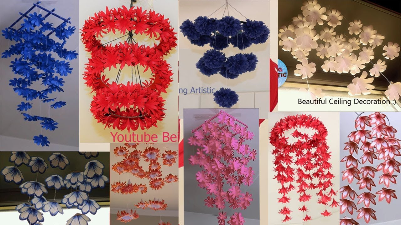 10 Diy Home Decor Hanging Flowers Paper Craft Home Decoration