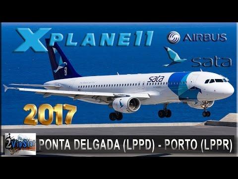 NOVO SIMULADOR DE VOO 2017 | A320 SATA | PONTA DELGADA (LPPD) - PORTO (LPPR) | IVAO