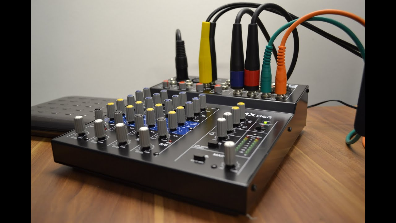 My New Alto Zmx862 Mixer Youtube 6 Channel Audio