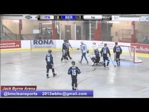 Men's B Pool Final Bermuda vs Italy 2013 World Ball Hockey Championship