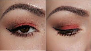 Макияж с КРАСНЫМИ ТЕНЯМИ: модный тренд ОСЕНИ | Fall makeup tutorial | EH