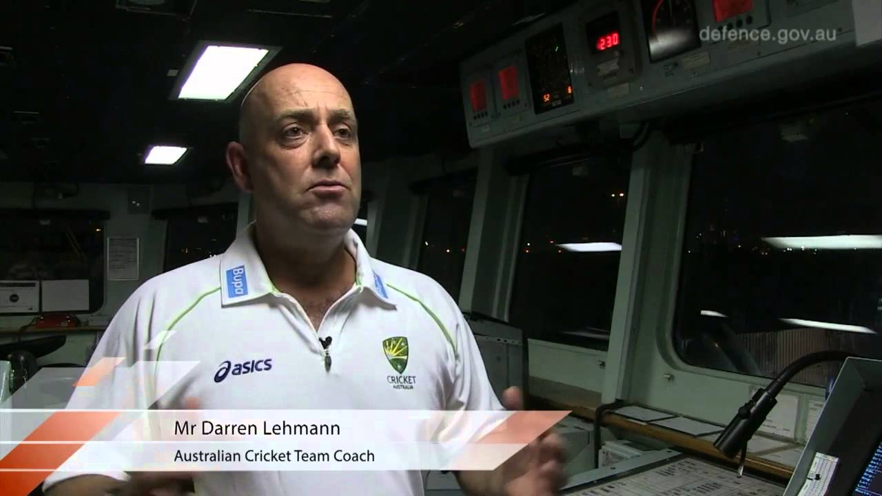 Australian Cricket Team visits HMAS Toowoomba