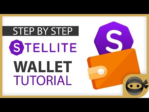 Stellite wallet tutorial for Mac and Windows