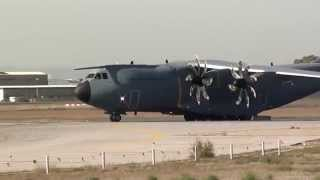 Turkish Air Force Airbus A400M Atlas (14-0028) Take Off Seville LEZL