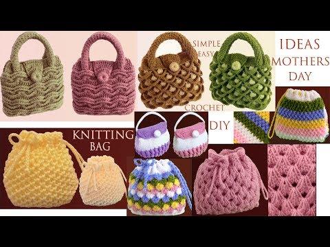 bolsos-morralitos-monederos-tejidos-con-ganchillo-crochet-7-ideas-fácil-hacer-día-de-la-madre