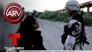 Madre suplica que la dejen cruzar la frontera y estremece al mundo | Al Rojo Vivo | Telemundo