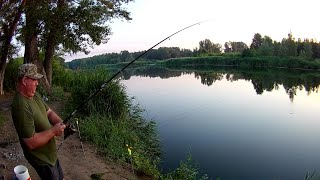 Ловля леща на донки. Бешенный утренний клев. Часть 1/2. Рыбалка с ночёвкой. Рыбалка в Казахстане.