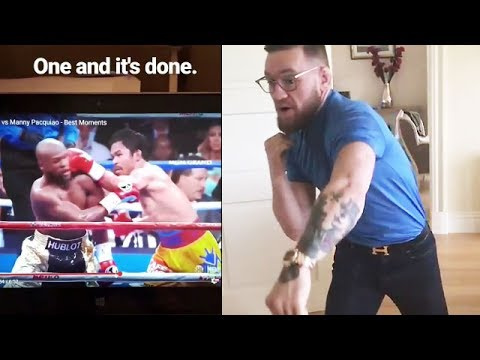 "Thumbnail: CONOR MCGREGOR'S COACH WARNS MAYWEATHER AFTER STUDYING PACQUIAO FIGHT FILM: ""ONE AND IT'S DONE"""