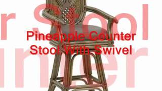 Outdoor Barstools, Retro Barstool, Outdoor Barstool In Teak And Metal For Garden And Patio.