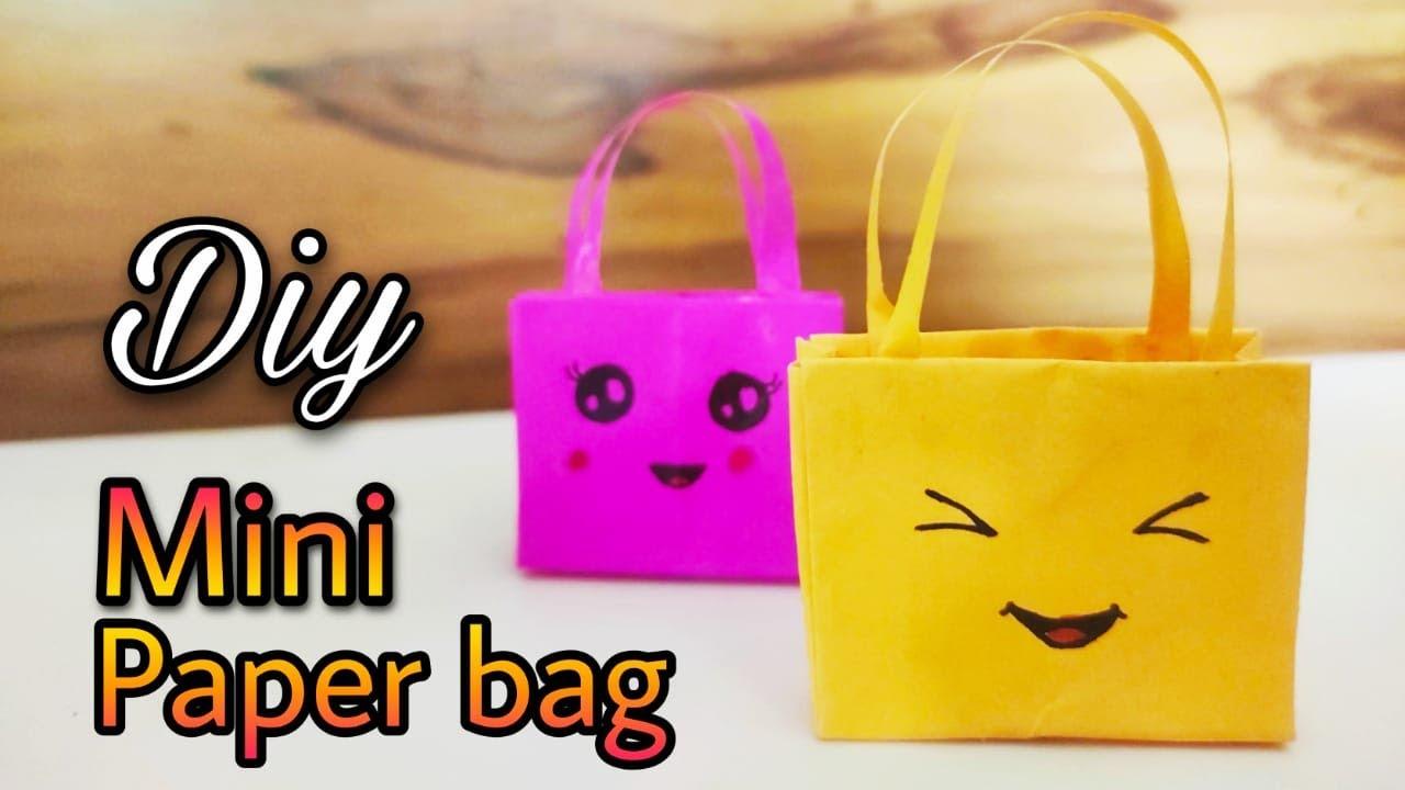 #kidsCraft DIY How to make easy paper bag?/Origamy Mini paper Bag