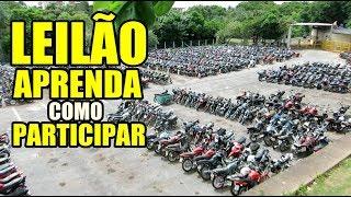 LEILÃO DE MOTOS E CARROS BARATO COMO PARTICIPAR