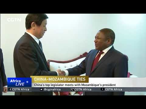 China's top legislator meets with Mozambique's president