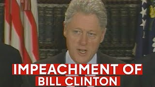 The impeachment of Bill Clinton -- original news coverage