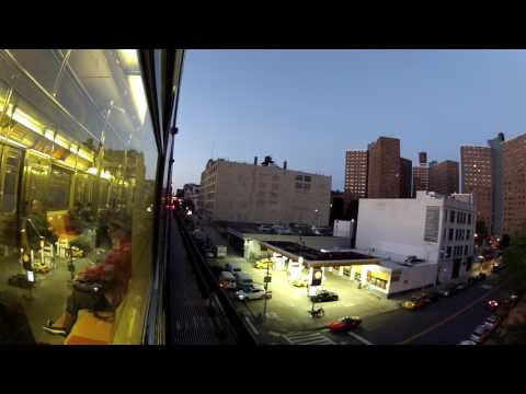 TrainCam HD Wide-Angle: #1 North; from 125th Streets to 137th St-City College