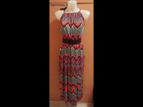 5866fb124140 DIY Maxi Dress - Come fare un abito lungo in 10 min. - YouTube
