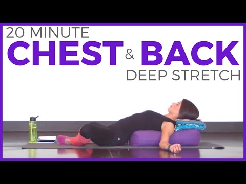 20 Minute Deep Stretch Yoga for Chest & Back | SarahBethYoga