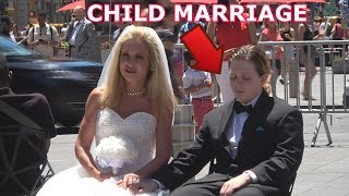 50 Year Old Woman Marries 12 Year Old Boy! (Child Marriage Social Experiment)