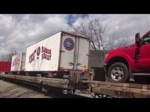 Last Appearance Red&Blue Circus Trains Pennsylvania Capital