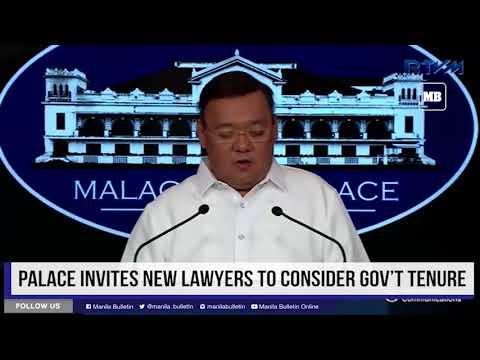 Palace invites new lawyers to consider gov't tenure
