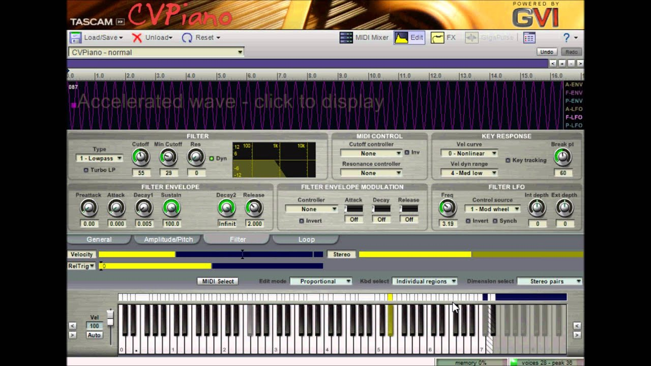 cv piano by tascam