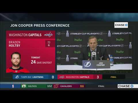 Jon Cooper -- Tampa Bay Lightning at Washington Capitals Game 6 05/21/2018