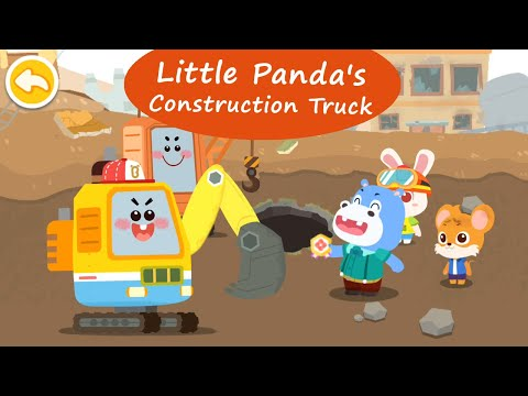 Little Panda's Construction Truck - Learn how Construction Vehicles work | BabyBus Games