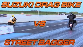 Bagger vs Mini Dragster & Suzuki Drag Bike @ NoExcuses Round 3(, 2016-03-22T04:58:21.000Z)