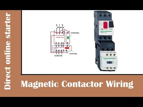 hqdefault how to wire magnetic contactor overload relay dol stater wiring diagram for contactor and overload at reclaimingppi.co