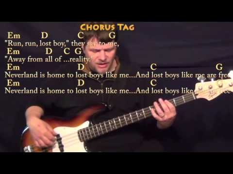 Piano lost boy piano chords ruth b : Lost Boy (Ruth B) Bass Guitar Cover Lesson in G with Chords/Lyrics ...