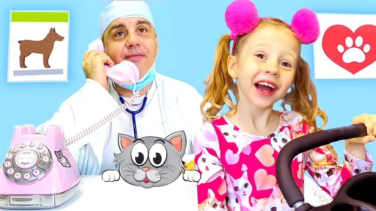 Nastya e papai aprendem novas atividades   Vídeo de aprendizagem para crianças