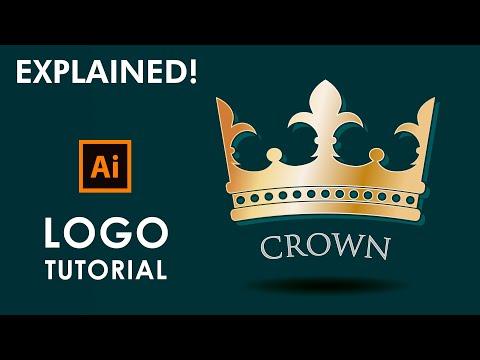 How to design a Crown Logo - Illustrator Tutorial