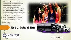 Prom Shuttle with a Bus Rental in San Antonio