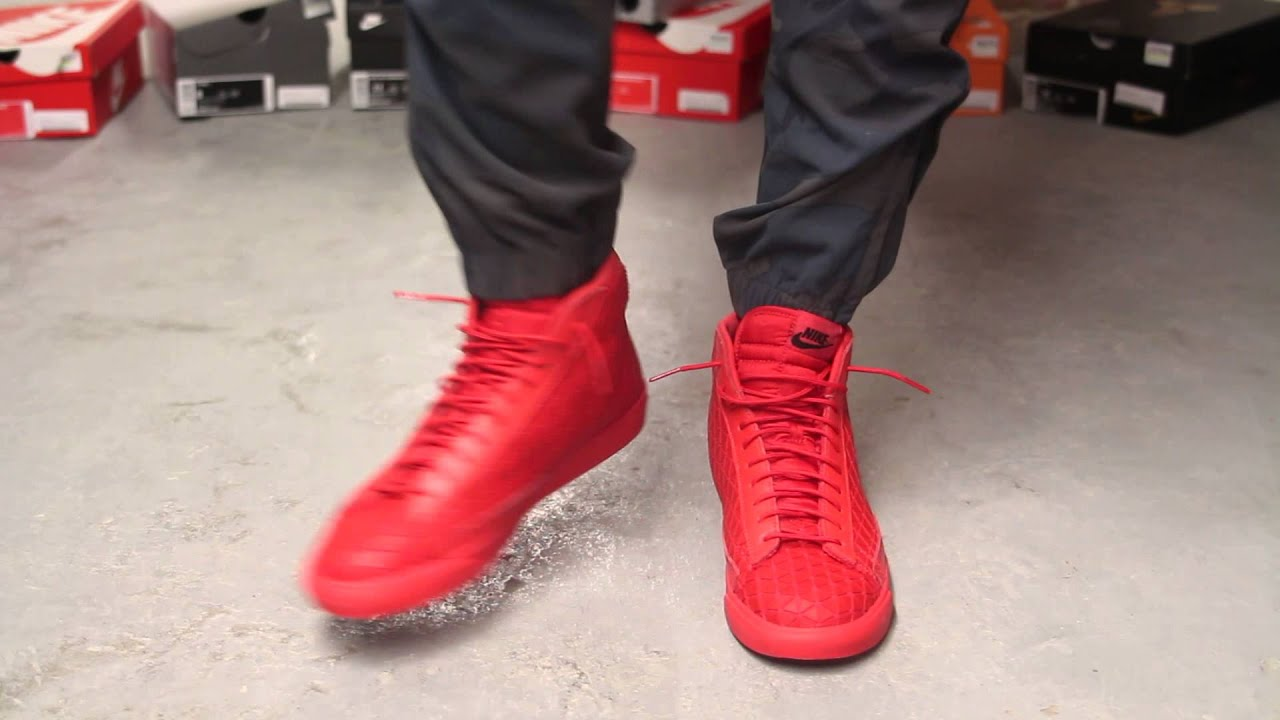 nike blazer mid metric qs university red rotisserie